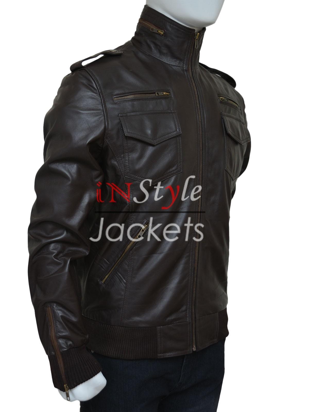 Leather jacket brown - Brooklyn Nine Nine Jake Peralta Brown Jacket