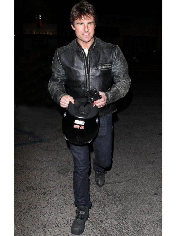 Tom Cruise Enticing Leather Jacket